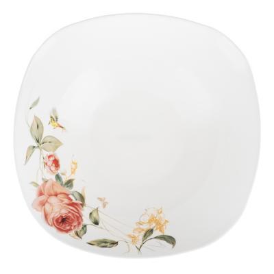 818-468 MILLIMI Анета Салатник, опаловое стекло 24см, квадратная форма, 19019