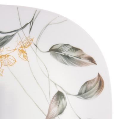 818-539 MILLIMI Анета Тарелка десертная опаловое стекло 21,5см, квадратная форма, 19019