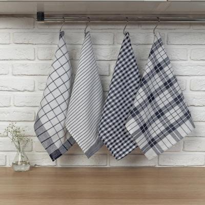 "434-081 PROVANCE Комплект полотенец кухонных 4шт, 75% хлопок, 25% ПЭ 45х60см, ""Классика"""