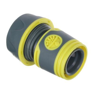 169-027 INBLOOM PROF+ Коннектор быстросъемный для шланга 3/4 с аквастопом, обрезиненное покрытие ABS