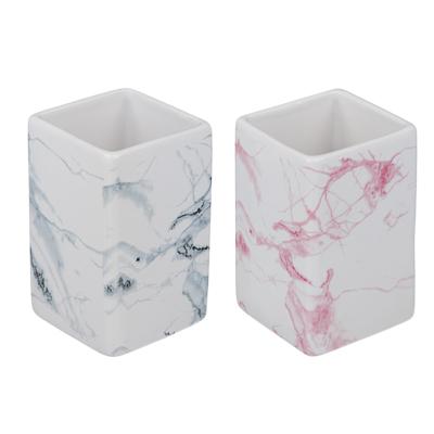 """463-934 VETTA Стакан для ванной комнаты, """"Мрамор"""", керамика, 2 цвета"""