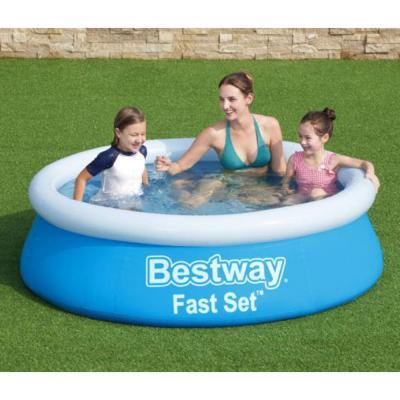 012-008 BESTWAY Бассейн надувной Fast Set, PVC, 183x51см, 57392