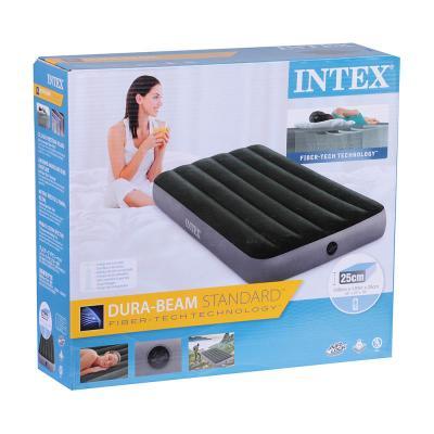 108-053 INTEX Кровать надувная DOWNY BED(fiber-tech), 99x191x25см, ПВХ, 64107