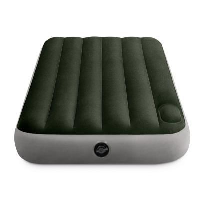 108-060 INTEX Кровать надувная DOWNY BED, (fiber-tech), встроенный ножной насос, 99x191x25см, ПВХ, 64761