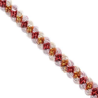 "377-395 Мишура № 21,"" Спираль двухцветная"", фольга, 200х3,5+3,5см, 7 цветов, арт. А4019Д"