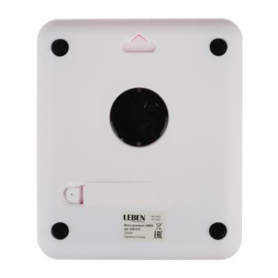 268-053 LEBEN Весы кухонные электронные с часами, макс.нагр.до 5кг (точн.измер. 1 гр), пластик, 2 цвета