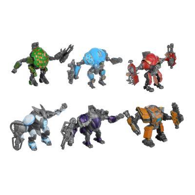274-160 ИГРОЛЕНД Фигурки боевых роботов, пластик, 8,5х6,5х5см, 6 дизайнов