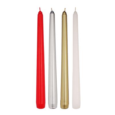 508-622 LADECOR Свеча античная коническая парафиновая, 25 см, 8 цветов
