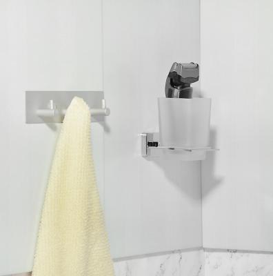 555-010 SonWelle Планка для ванной, 3 крючка, 18см, хром, металл