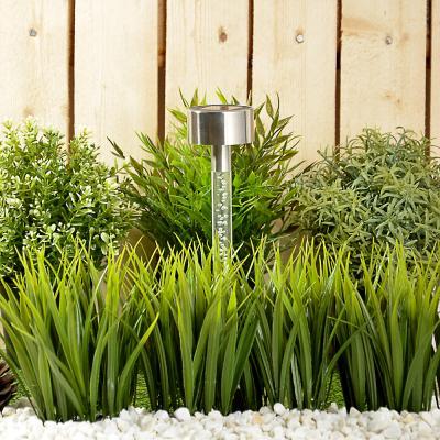 185-036 INBLOOM Фонарь садовый на солнечной батарее, 5,5x29см, 1LED, мульти, пластик, акрил, нерж.сталь