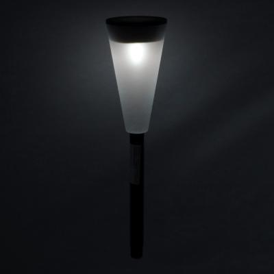 185-038 INBLOOM Фонарь садовый на солнечной батарее, 6,7х27,8см, 1LED,белый, пластик