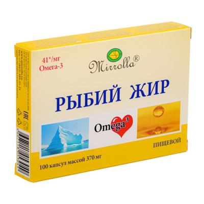 """015-102 Рыбий жир пищевой """"Биоконтур"""" №100 (П), 330 мг"""