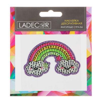 503-539 LADECOR Наклейка декоративная фигурные стразы, 11х12 см, ПВХ, 12 дизайнов