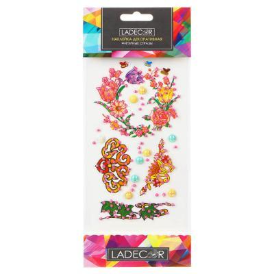503-541 LADECOR Наклейка декоративная фигурные стразы, 10,5х26 см, ПВХ, 8 дизайнов