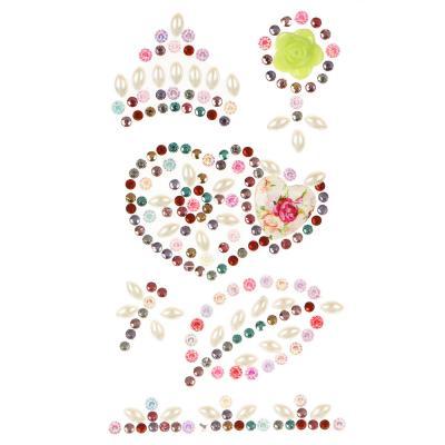 503-542 LADECOR Наклейка декоративная фигурные стразы, 18,5х8 см, ПВХ, 3 вида