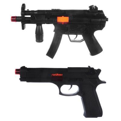 261-684 ИГРОЛЕНД Оружие-трещотка, пластик, 2-4 пр, 21х29х4см, 2 дизайна