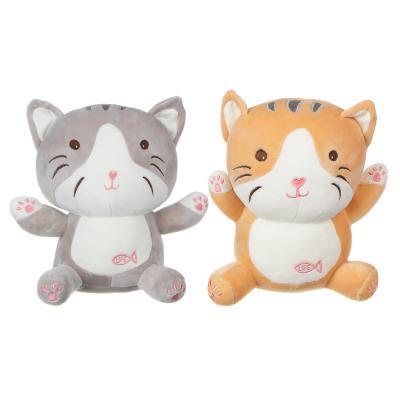 264-245 МЕШОК ПОДАРКОВ Игрушка мягкая в виде кота, 25см, полиэстер, 2 цвета