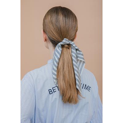 322-223 Резинка для волос с лентой, полиэстер, d=5см, 2 дизайна, РВ2019-2