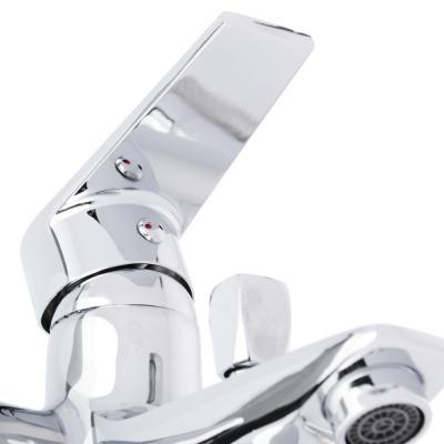 567-082 СоюзКран Смеситель для ванны SK1086, короткий излив, с душевым набором, керам. картридж 35мм, цинк