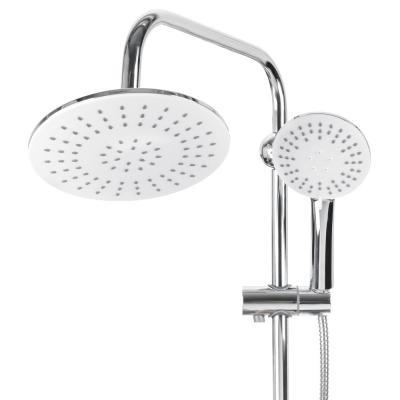 582-046 Душевая система SonWelle, верхний душ 1 режим, ручной душ 3 режима, хром/белый