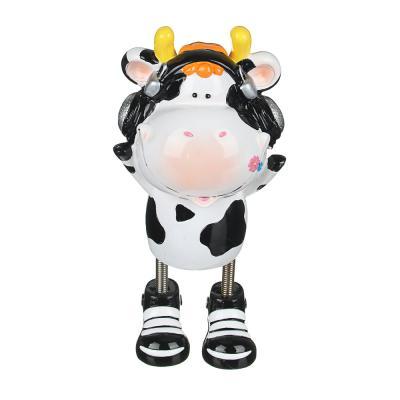 359-746 Копилка в виде коровки, полистоун, 10-21 см, 2 дизайна