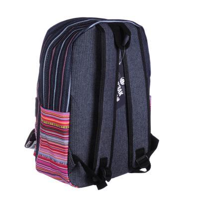 254-318 Рюкзак подростковый, 43x30x14см, 1 отделение, 1 карман, брелок, принт на кармане, 3 дизайна