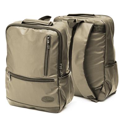 254-351 Рюкзак подростковый, 39,5x28x11см, 1 отд, 4 карм, многослойн.водоотталк.нейлон, иск.кожа, коричневый