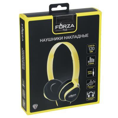 410-026 FORZA Наушники накладные проводные, поворотные, кабель 120см, разноцветные, пластик