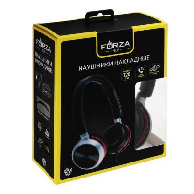 410-027 FORZA Наушники накладные проводные, поворотные, кабель 120см, металлик, пластик, 4 цвета