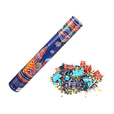 399-102 СНОУ БУМ Хлопушка пневматическая, 40 см, наполнитель конфетти из фольги, пожелания, дизайн 8