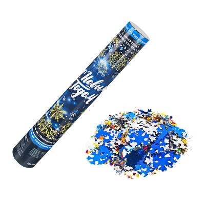 399-106 СНОУ БУМ Хлопушка пневматическая, 40 см, фольга фигурная и конфетти, дизайн 13