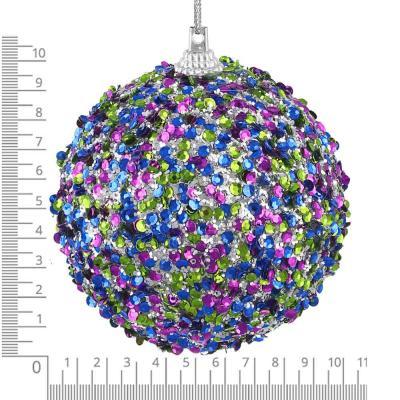 397-247 СНОУ БУМ Подвеска шар, 10 см, пластик, текстиль, 2 дизайна