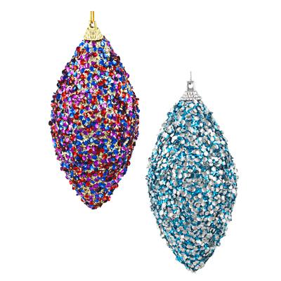 397-249 СНОУ БУМ Подвеска сосулька, 6х12 см, пластик, текстиль, 2 дизайна