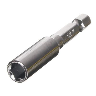 """640-008 ЕРМАК Адаптер цельный магнитный для бит, хвостовик 1/4"""", 60 мм"""