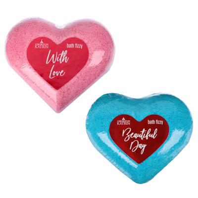 953-009 Соль для ванн шипучая With love / Beautifull day, 130г, в форме сердца