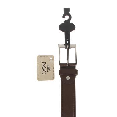 311-404 PAVO Ремень мужской, ПУ, сплав, ширина 3,3см, длина 120/130см, 2 цвета, РМ20-5