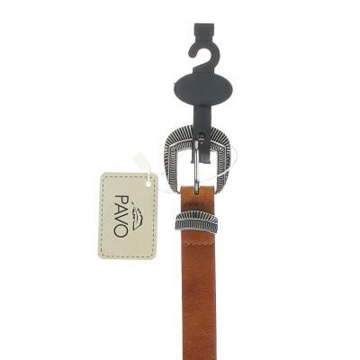 311-407 PAVO Ремень женский, ПУ, сплав, ширина 2,3см, длина 105см, 2 цвета, РЖ20-1