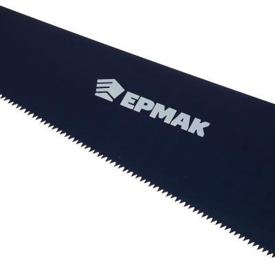 663-130 ЕРМАК Ножовка по дереву 500мм с деревянной обрезиненной ручкой, универсальный зуб, 4 мм