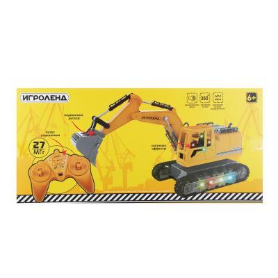 293-055 ИГРОЛЕНД Экскаватор на радиоуправлении, 12 каналов, АКБ, ABS, мет., 45х16,5х21,5см