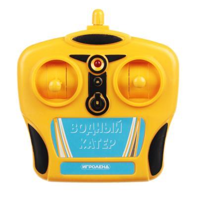 293-057 ИГРОЛЕНД Катер на радиоуправлении, 27 МГц, 5АА, РР, 34x15x15см, 2 дизайна