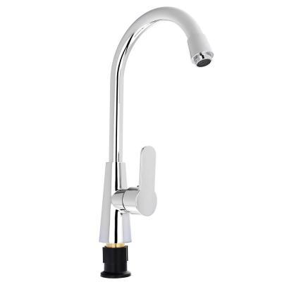 566-385 Смеситель Klabb для кухни керам.картридж, 40мм, хром, гайка, без подводки