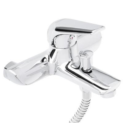 567-086 СоюзКран Смеситель для ванны SK1087, короткий излив, с душ набором, керам. картридж 35мм, цинк