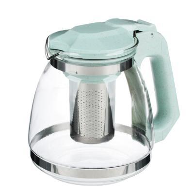 850-197 VETTA Чайник заварочный 1500мл, ситечко из нержавеющей стали, стекло, полипропилен, 2 цвета