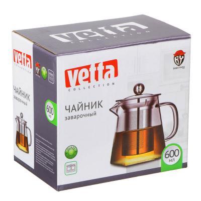 850-199 VETTA Чайник заварочный 500мл, ситечко из нержавеющей стали, стекло, пластик
