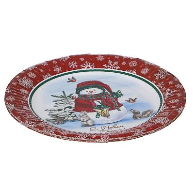 393-229 Набор бумажных тарелок 6шт, d18см, арт 4-1