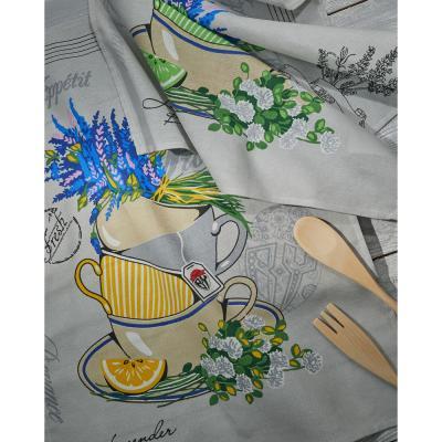 """434-084 PROVANCE Полотенце кухонное, рогожка, 100% хлопок, 45х60см, """"Полевые травы"""", 3 дизайна"""