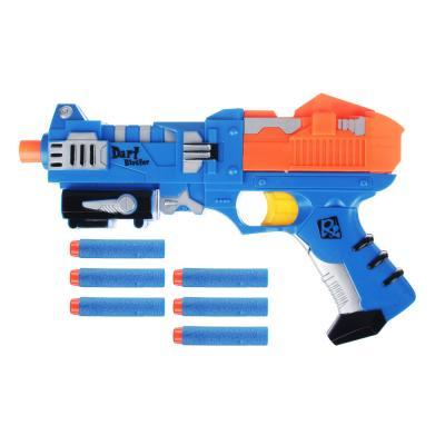 261-686 ИГРОЛЕНД Мега-бластер с поролоновыми пулями, 7 предметов, пластик, 31х21,5х5см