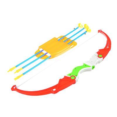 261-687 ИГРОЛЕНД Набор игровой Лук со стрелами, 5пр., пластик, 19,5х55,5х3,5см