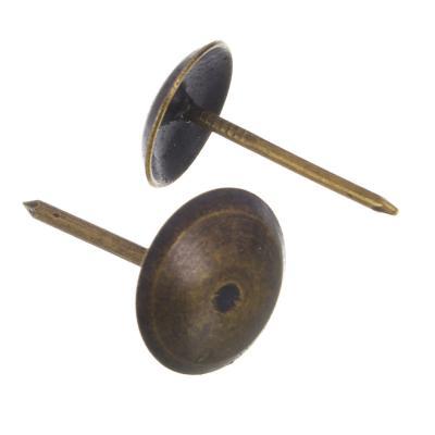 639-060 Гвозди мебельные усиленные 100гр, 167шт, бронза, металл