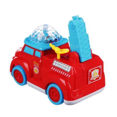 272-689 ИГРОЛЕНД Автомобиль пожарный музыкальный с проектором, свет, звук, движение, 3АА, пластик, 16х9х12см